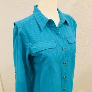 Turquoise Exofficio Button Down